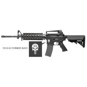 G&G CM16 A4 Commando negro (logo Punisher)