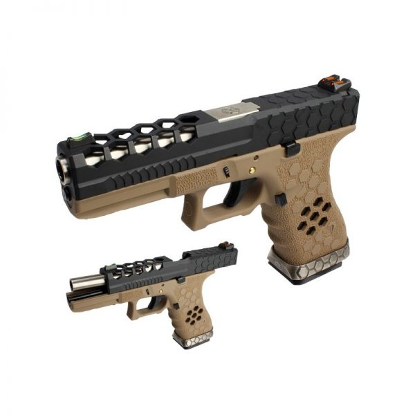 pistola-armorer-works-g17-hex-cut-negra-tan