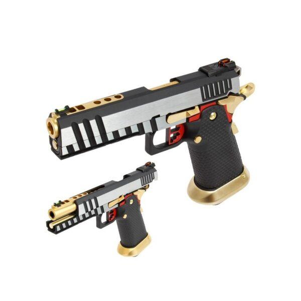 pistola-armorer-works-hi-capa-plata-y-oro